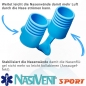 Preview: Nasivent Sport Blue 2 Pack Size S / 9 mm - for better nasal breathing and optimizing oxygenation in sports and leisure activities -