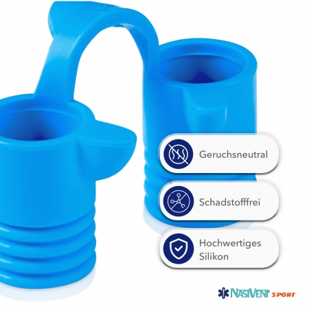 Nasivent Sport Blue 2 Pack Size M - for better nasal breathing and optimizing oxygenation in sports and leisure activities -