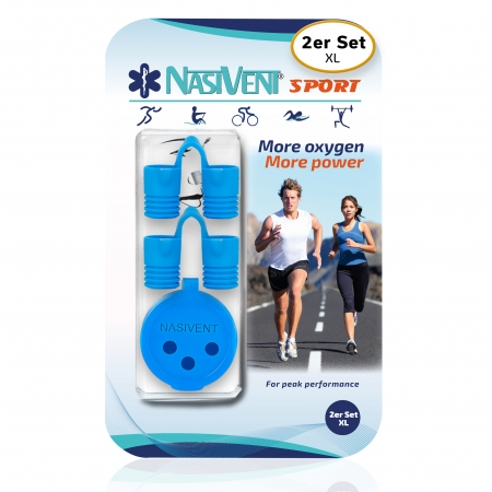 Nasivent Sport Blue 2 Pack  Size XL / blue - for better nasal breathing and optimizing oxygenation in sports and leisure activities -