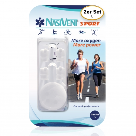 Nasivent Sport Snow White 2 pack Size L - improves nasal breathing - optimizes oxygen supply during sport, regeneration and sleep - Limited Edition