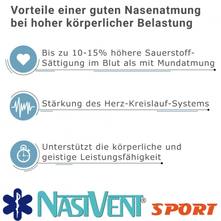 Nasivent Sport 2 Pack - NEW - Size M / 11mm - for better nasal breathing and optimizing oxygenation in sports and leisure activities -