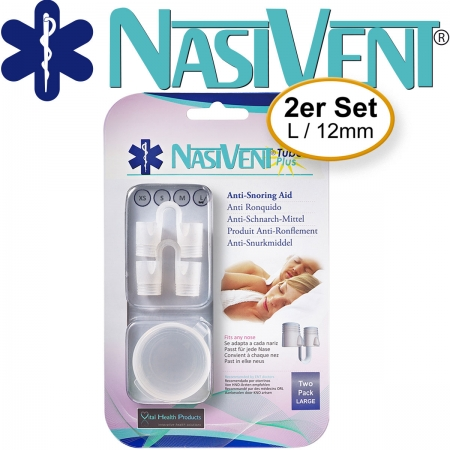 Nasivent Tube Plus 2 Pack (Size L/12mm) (New Model)