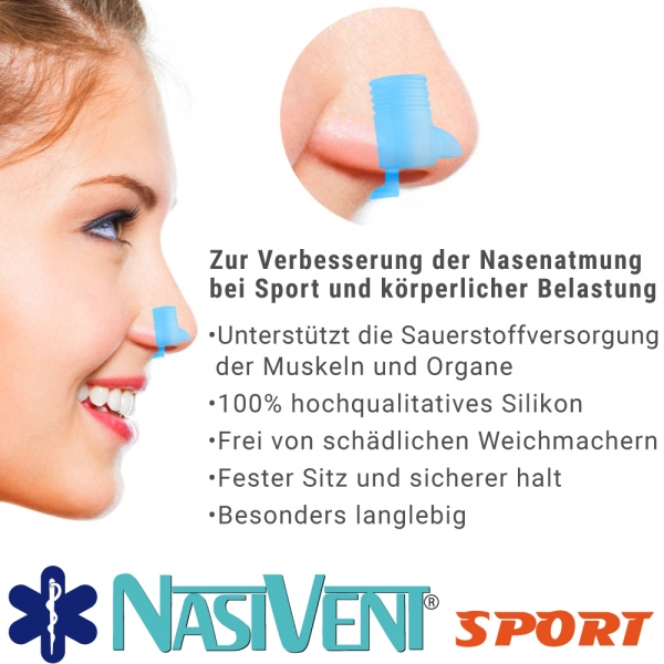 Nasivent Sport - more oxygen more power -  blue