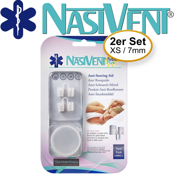 Nasivent Tube Plus 2 Pack (Size XS/7mm) (New Model)