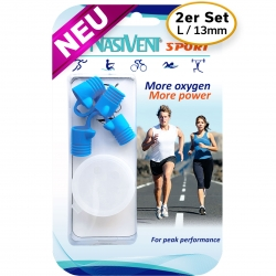 Nasivent Sport 2 Pack - NEW - Size L / 13mm - for better nasal breathing and optimizing oxygenation in sports and leisure activities -