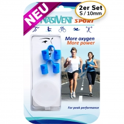 Nasivent Sport 2 Pack - NEW - Size S / 10mm - for better nasal breathing and optimizing oxygenation in sports and leisure activities -
