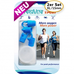 Nasivent Sport 2 Pack - NEW - Size XL/15mm - for better nasal breathing and optimizing oxygenation in sports and leisure activities -
