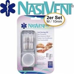 Nasivent Tube Plus 2er Pack - Gr. M/10mm - Anti Schnarch Mittel (Neues Model)
